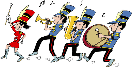 marching band: Marching band Stock Photo