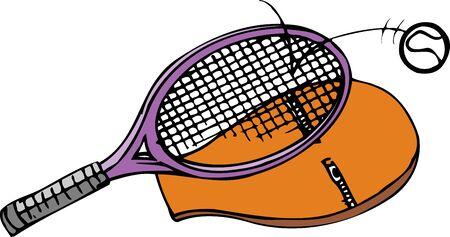 テニス ラケットとボール