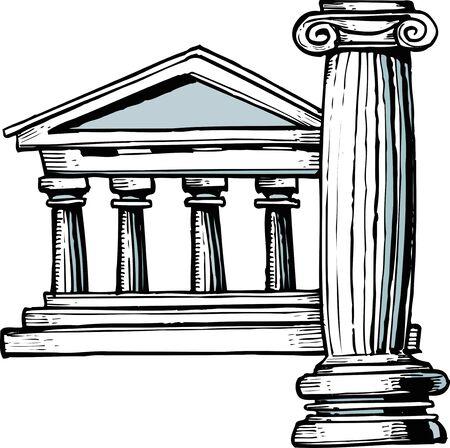 templo griego: Templo griego Foto de archivo