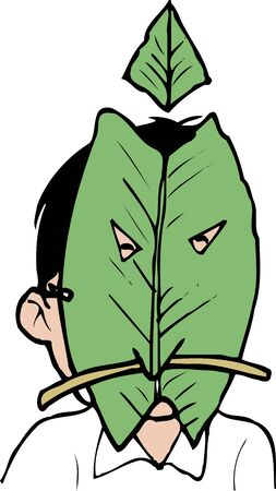 your: It leaves your face Park Stock Photo