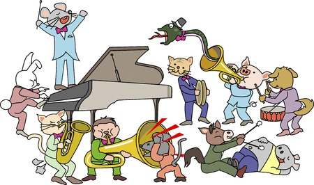 orchestra: Animal Orchestra Stock Photo