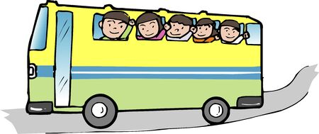excursion: Bus excursion Stock Photo