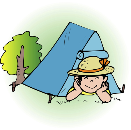 lodging: Tent for one person Stock Photo