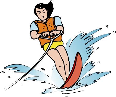 water skiing: water skiing