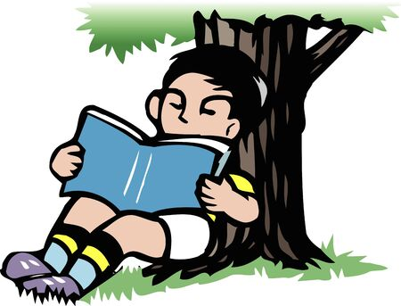 shade: Reading in the shade of a tree