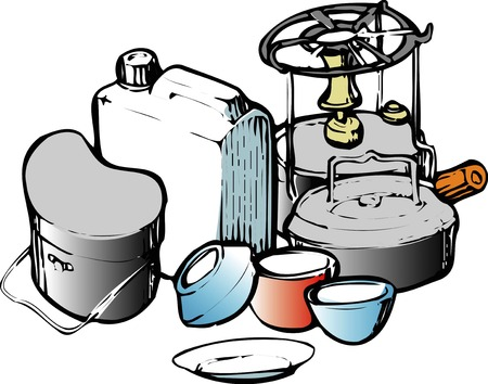 camping equipment: Camping equipment Stock Photo