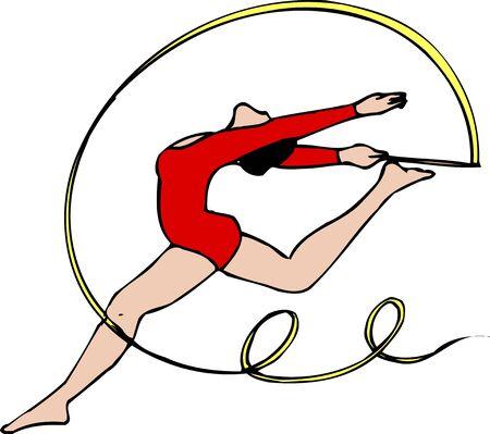 rhythmic: Rhythmic Gymnastics Ribbon Stock Photo
