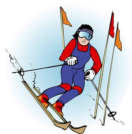 slalom: Slalom Stock Photo