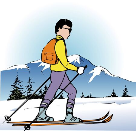 cross country skiing: cross country