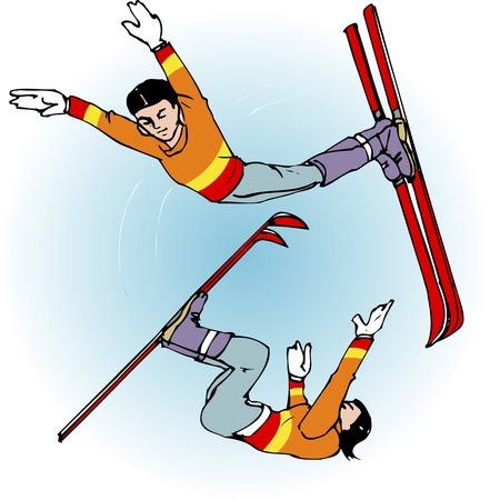 freestyle: Freestyle Skiing Freestyle Skiing Stock Photo