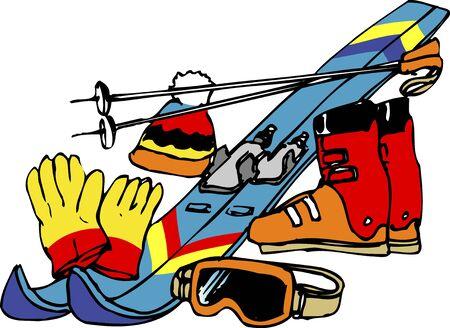 equipment: Ski equipment