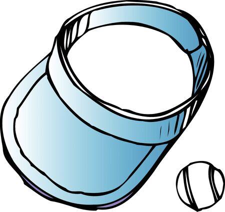 visor: Sun visor and balls