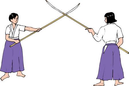 Long-handled sword