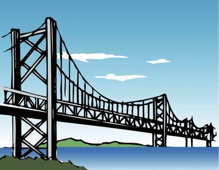 points of interest: Seto-Ohashi bridge Stock Photo