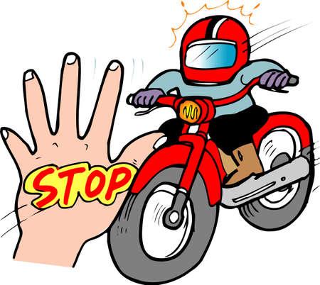 gang: Motorcycle gang Stock Photo