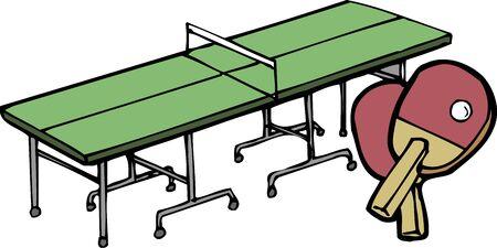 テーブル テニスとラケット 写真素材