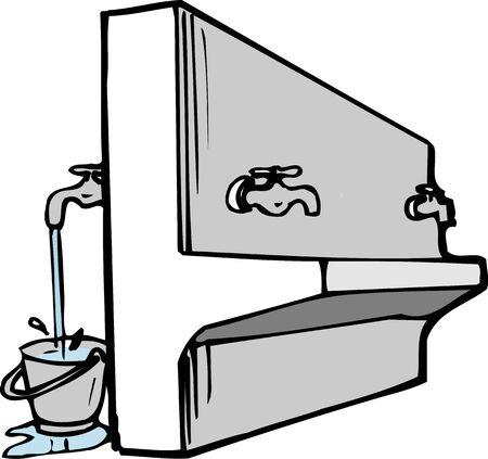 屋外洗濯場