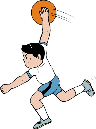 throw: Throw the ball Stock Photo