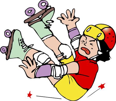 롤러 스케이트 타기 스톡 콘텐츠