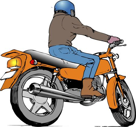 a two wheeled vehicle: Touring Stock Photo