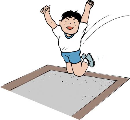 long jump: Long jump Stock Photo