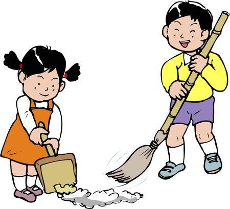 정원 청소