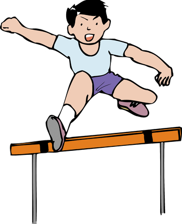 hurdle: Hurdle Stock Photo