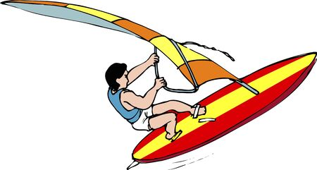 wind surfing: Wind surfing Stock Photo