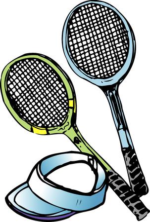 the equipment: Tennis equipment