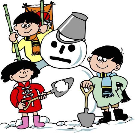 boule de neige: d�cision Snowball Banque d'images