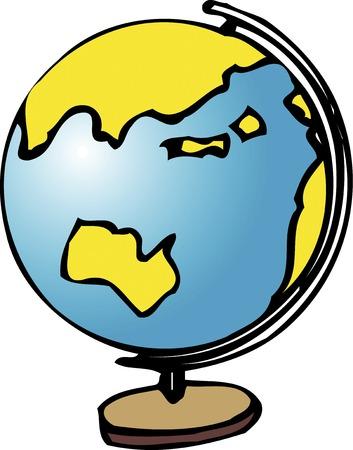 instructional: World globe Stock Photo
