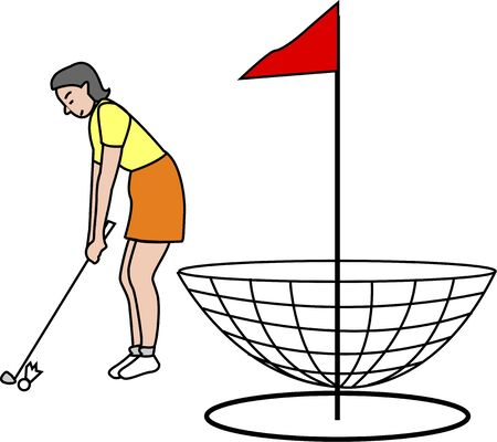 ターゲット ゴルフ 写真素材 - 46829782