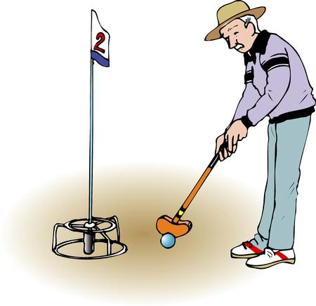 グラウンド ・ ゴルフ 写真素材