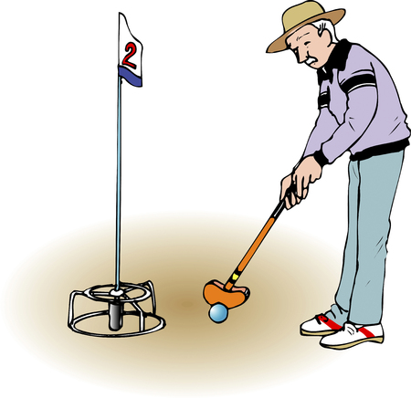 ground: Ground Golf Stock Photo