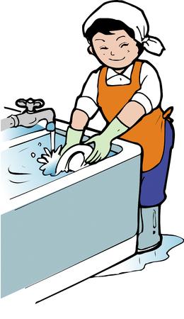 lavar platos: Lavar platos Foto de archivo