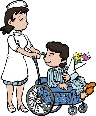 healthcare workers: Wheelchair Stock Photo