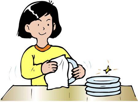 dishwashing: Lavar platos Foto de archivo