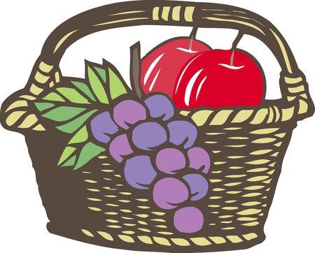 リンゴとブドウ 写真素材
