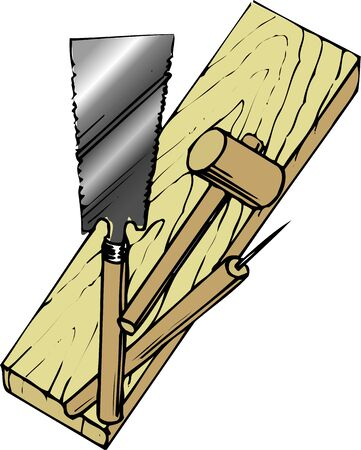woodworking: Woodworking tool Stock Photo