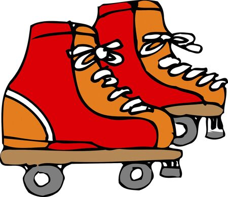 roller: Roller skate Stock Photo