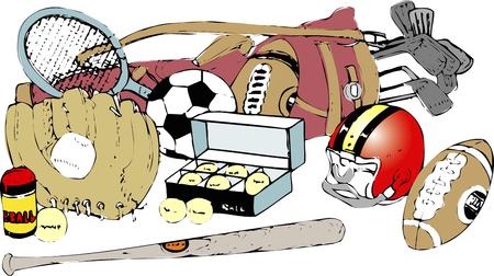 sporting goods: Art�culos deportivos Foto de archivo