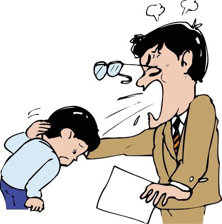 教師叱る生徒