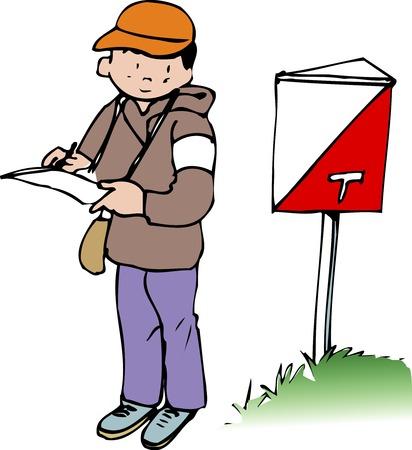 orienteering: Orienteering Stock Photo