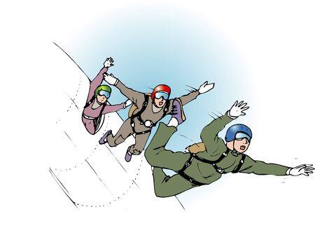 sky diving: sky diving