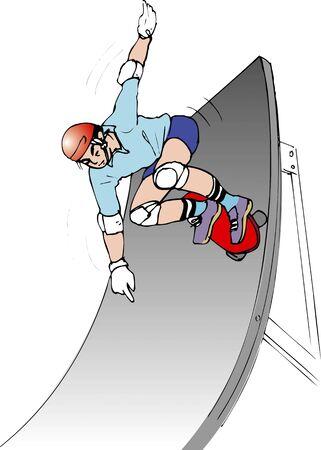 スケート ボードの競技 写真素材