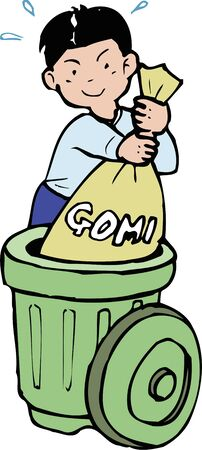 out: Out trash Stock Photo