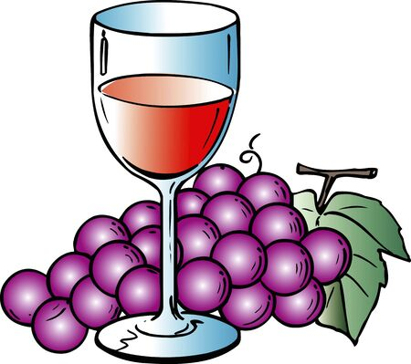 alchoholic drink: Grapes and wine