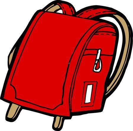 satchel: School bags Stock Photo