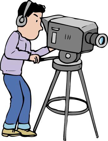 cameraman: TV cameraman