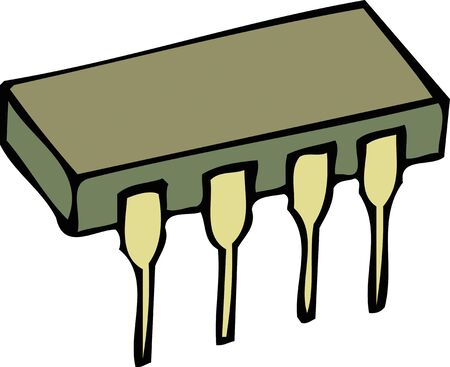 integrated circuit: Integrated circuit Stock Photo